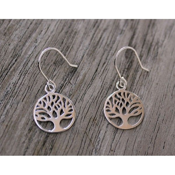 Jewellery Online - Tree of Life Sterling Silver Earrings