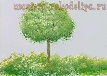Мастер класс по рисованию: Дерево акриловыми красками