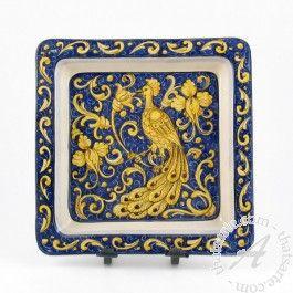 """Ceramiche Rampini > Classic > Wall plate """"Peacock"""""""