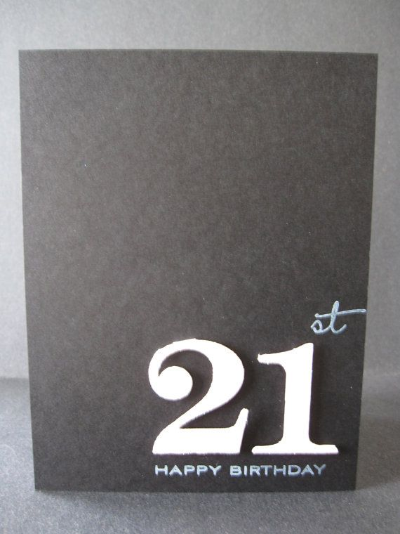 Black and Pink Happy 21st Birthday Card