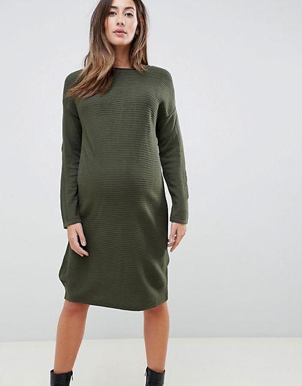 f3cc2cff3d5 ASOS Maternity Jumper Dress In Ripple Stitch