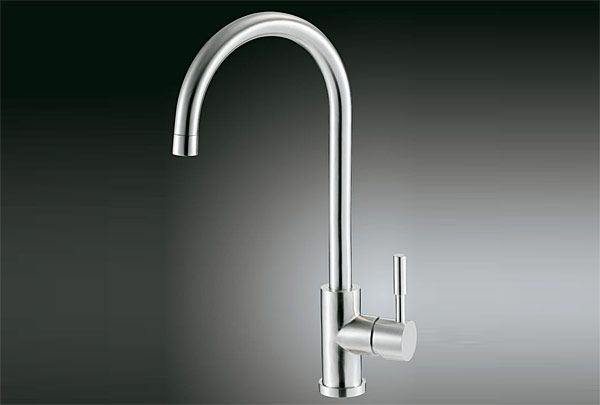 Stainless Steel Kitchen Faucet for Timeless Design : Stainless Steel Kitchen Faucet Lead