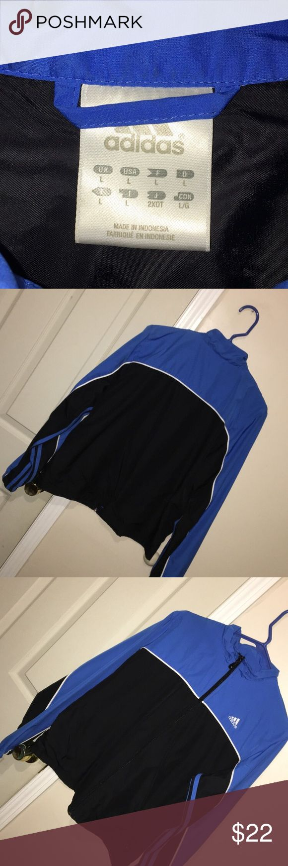 Adidas windbreaker Good condition Youth Large but can fit a Small in ladies size adidas Jackets & Coats Utility Jackets