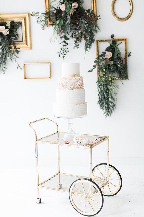 wedding cake ideas photo by Rosencrown Photography http://ruffledblog.com/minimalist-bridal-editorial-shoot