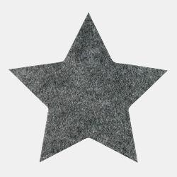 Symærke stjerne 155x149mm mørk grå 1stk