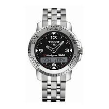 This Tissot Touch watch has:   -  150 cities / countries to select as a time zone  -  Time display automatically adapts to winter or summer time up to 2099  -  Two separate alarms programmable over seven days, with a choice of five tunes  - Three date reading options displayed in six languages