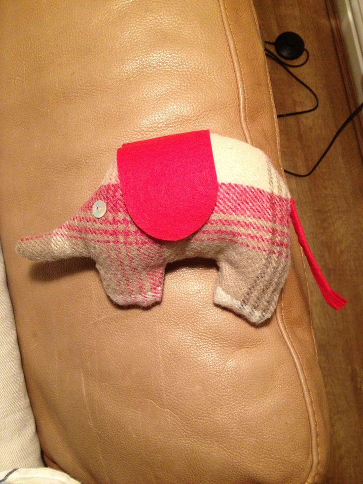 Hand sewn elephant