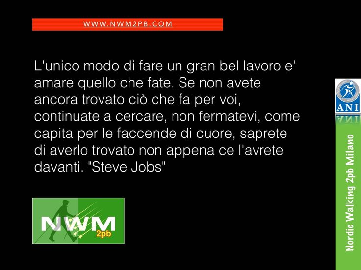 Steve Jobs :: Nordic Walking Milano
