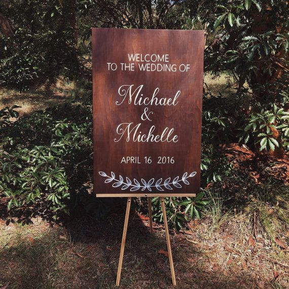 Wedding Sign. Wedding Welcome Sign. Ceremony Sign. Wedding