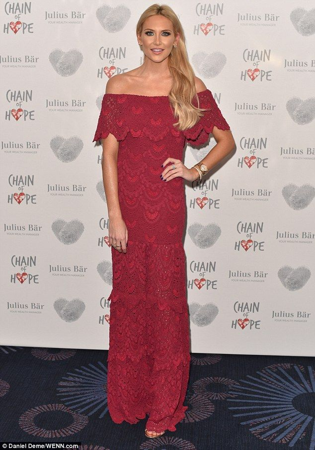 Lady in red! Stephanie Pratt was sure to turn heads for her fashion rather than her words on Friday night at the annual Chain Of Hope Gala Ball at the Grosvenor House