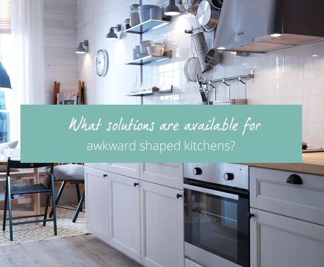 The 3 common layouts for kitchen design are galley, L-shaped and U-shaped. But what can you do if your kitchen space doesn't fit the traditional mould? Here are some ideas on how to handle an unusual shaped kitchen.