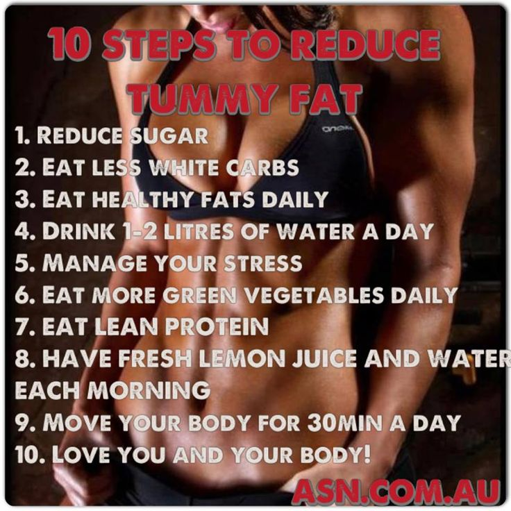 QUICK TIPS ON HOW TO CUT DOWN YOUR TUMMY FAT!!