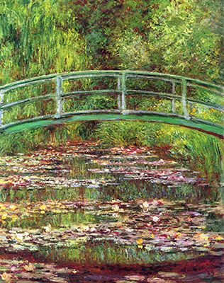 Japanese Bridge over the Lily Pond, Claude Monet