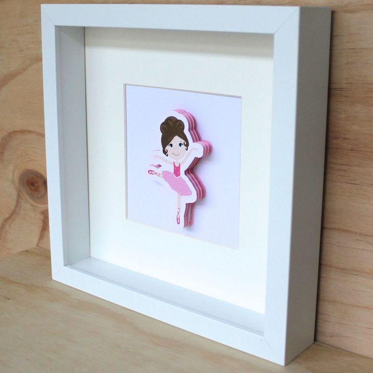 3D Pink Ballerina Frame