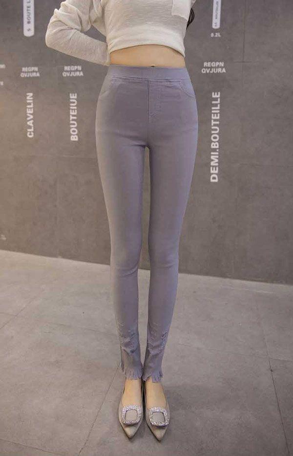 Fashion Celana Panjang Wanita Import Bahan Katun Stretch B2910