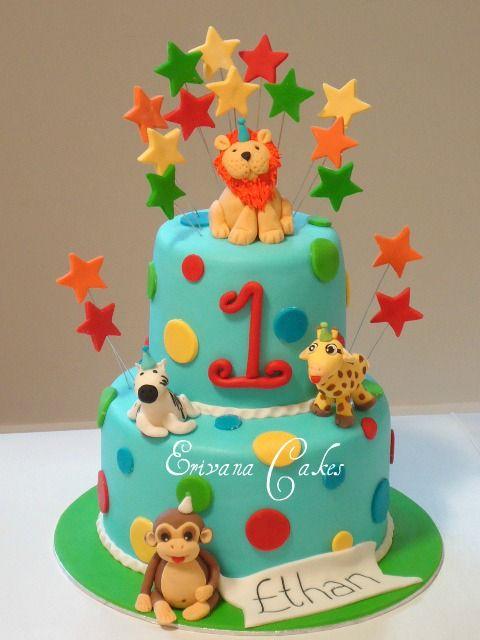 animal theme children's birthday cake designs - Google Search