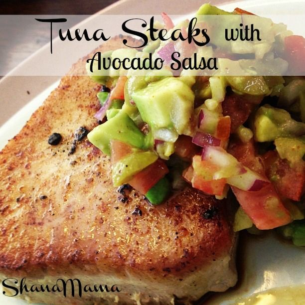 Tuna Steaks with Avocado Salsa Recipe