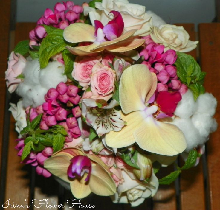 Orchid wedding bouquet - made by Irina's Flower House