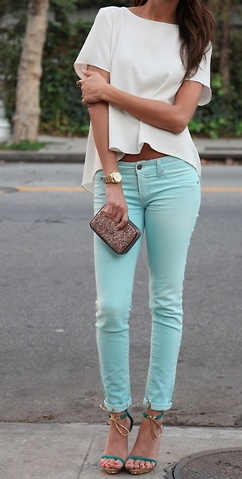 Baby blue jeans