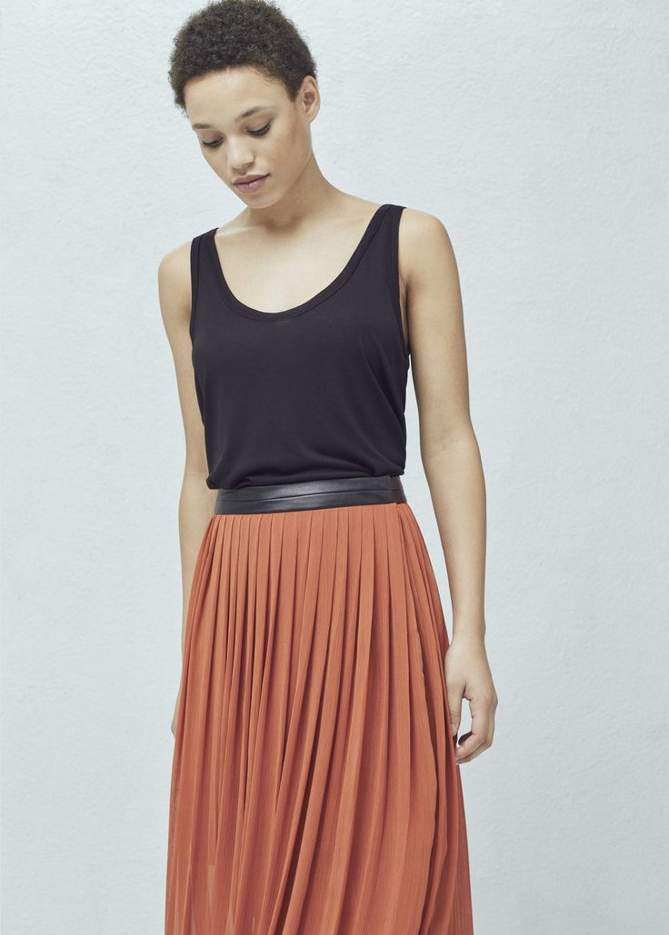 Pleated long skirt - Skirts for Woman | MANGO