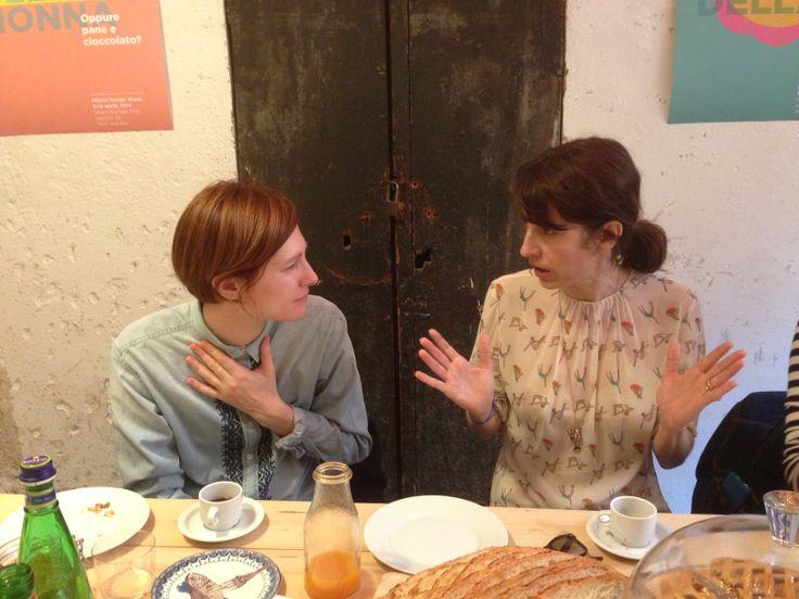 Day 5 - Marta Galli & Caroline Corbetta @ GNAM BOX CAFE #salonedelmobile2014 #fuorisalone2014 #gnambox #5vie