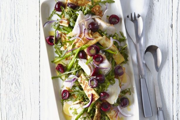 This turkey, cherry and haloumi salad comes together in an amazing mix of flavours.