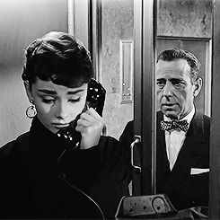 Audrey Hepburn and Humphrey Bogart