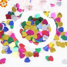 300 ШТ. Многоцветный Романтическая Любовь Сердца Свадьбы Конфетти Украшение Стола Свадебные Украшения Партийные Поставки Рождения(China (Mainland))