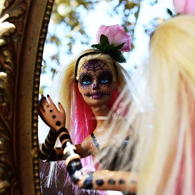 K Loco day of the dead barbie.