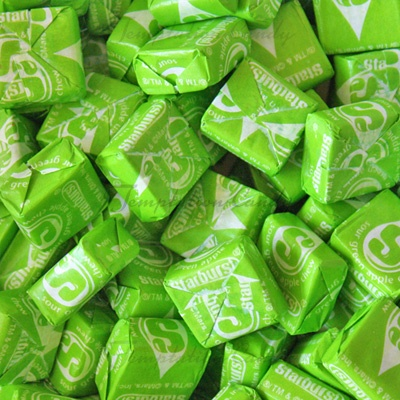 Green Apple Starburst from Temptation Candy.