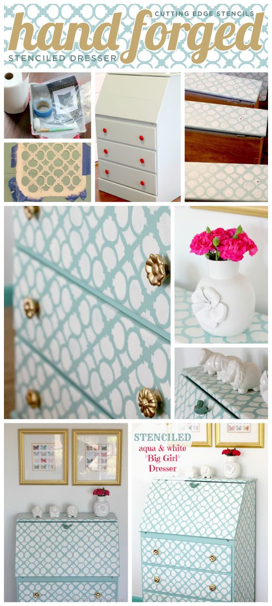 Cutting Edge Stencils Uses Craft Stencils To Bring Life to Old Furniture