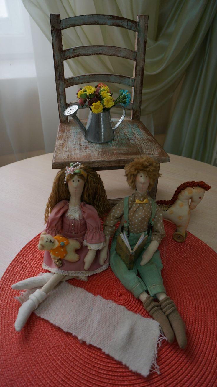 Куклы Тильда, семья,  брат и сестра, купить, заказать, ручная работа
