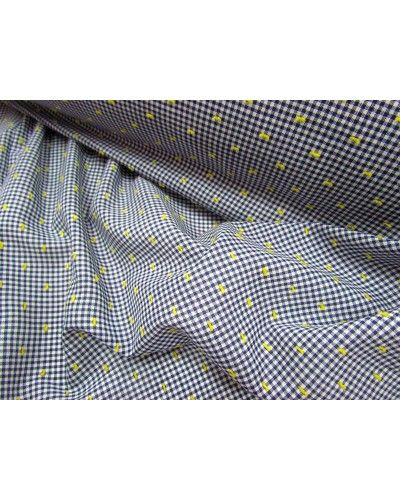 Piccadilly Flocked Gingham- Navy - $6.95