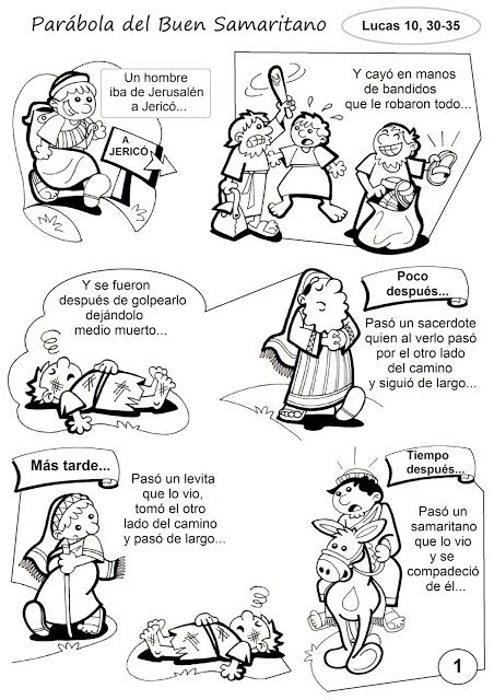 La Catequesis: Recursos Catequesis 15º Domingo Tiempo Ordinario Ciclo C: Parábola Buen Samaritano