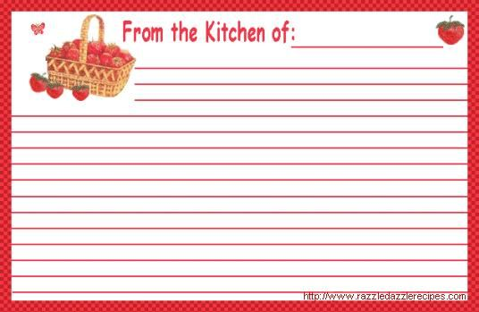 These Free Recipe Cards are available