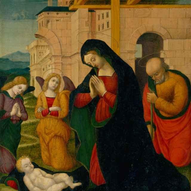 Narodenie Krista,  (15.-16. storočie) Taliansky maliar