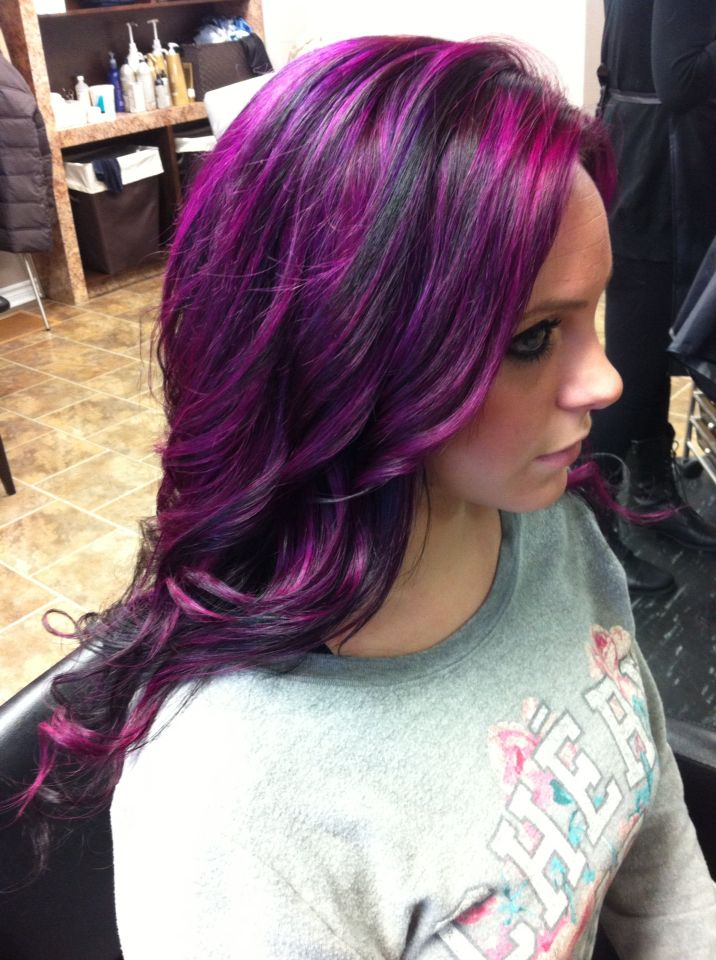 """Purple madness """"Joico Intensity, orchid and magenta""""hair by Tammy Wojciechowski at innovative"""