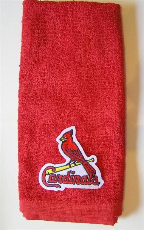 St. Louis Cardinals MLB Baseball Golf Hand Towel Baseball Team Applique