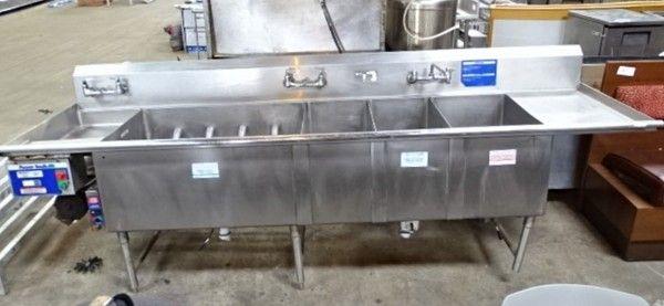 stainless steel sanitizing sink station