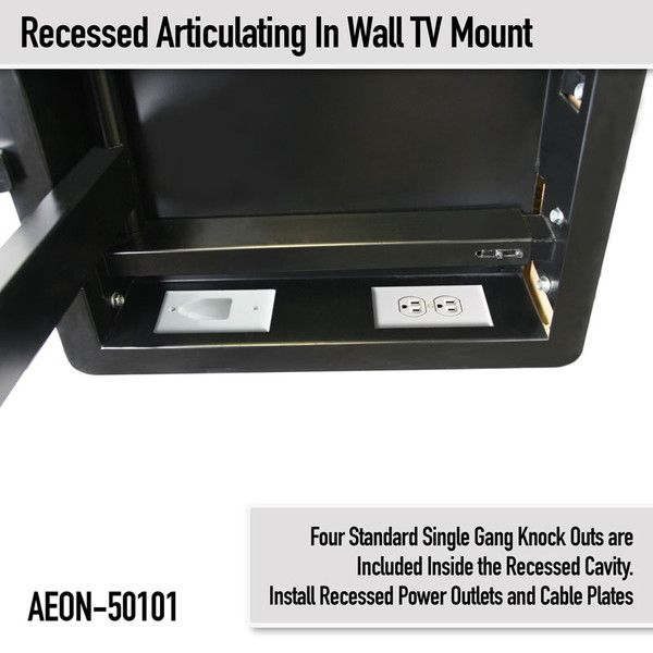 In Wall Tv Mount Recessed Articulating In Wall Tv Mount For 42 To 80 Inch Tvs Lcd Led Or Plasma Aeon 50101 Mounted Tv Tv Wall Wall Mounted Tv