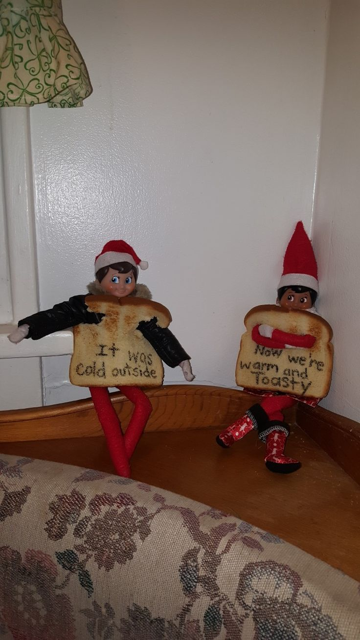 elf on the shelf after being outside all day