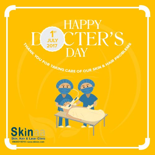 Happy National Doctors Day 2017!  National Doctor's Day is celebrated to commemorate the contributions of the gods on earth. Skinaa Team honour all doctors across the world and the legendary physician and the second Chief Minister of West Bengal, Dr Bidhan Chandra Roy who was born on July 1, 1882 and died on the same date in 1962, aged 80 years.  Regards Dr. Atul Jain MD, MBBS Dermatologist, Jaipur https://www.skinaa.com 09649219219