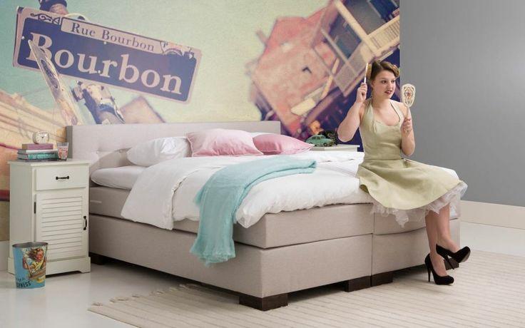 Slaapkamer Naturel : boxspring Kentucky - #slaapkamer #fleurig # ...