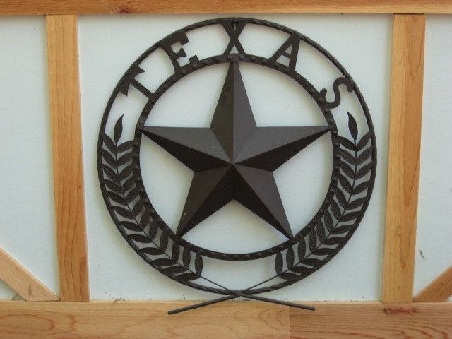 Proud Texan Round Metal TEXAS STAR Wall Plaque New Outdoor Sign @CritterCreekRanch