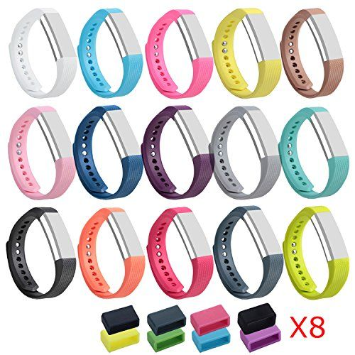 ISMILE Colorful Newest Replacement Wristband With Secure Clasps for Fitbit Alta OnlyNo tracker Replacement Bands Only Set of 15 Small *** You can get more details by clicking on the image.