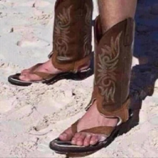 Beach cowboy...? LOL! by I Love To Laugh