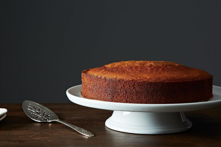 Maialino's Olive Oil Cake from Food52. Note: use one cup olive oil.