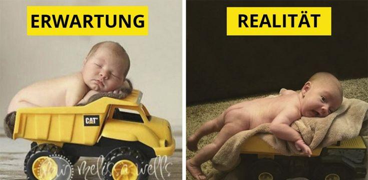 Erwartung vs. Realität: 30 Babyfoto-Fails