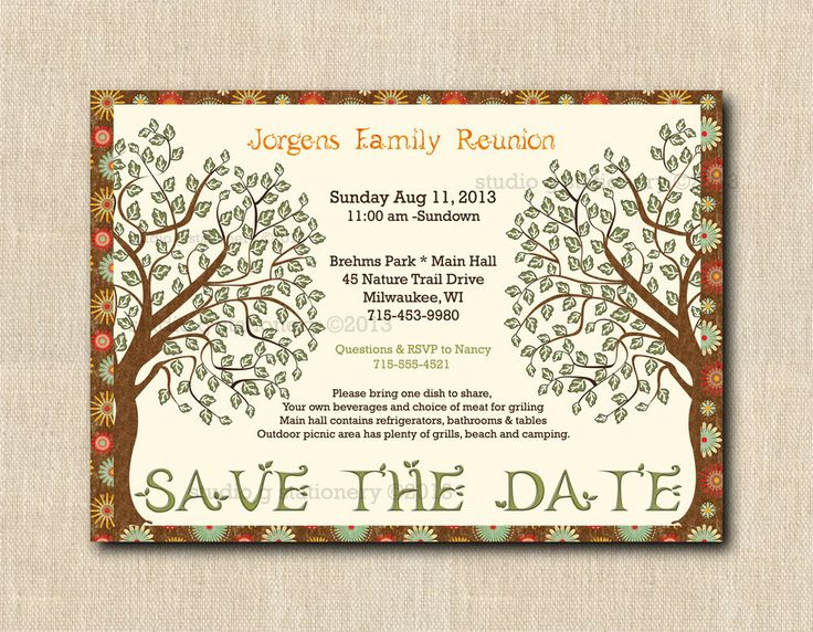12 best family reunion images on Pinterest Family gatherings - best of invitation reunion template