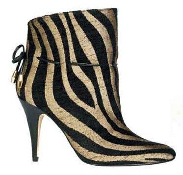 Corrine - zebra: ecofab booties